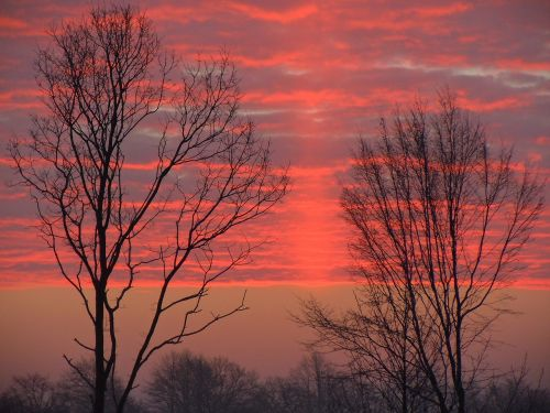 morgenrot clouds bright red