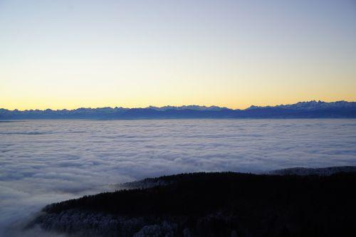 morgenstimmung alpenblick mountains