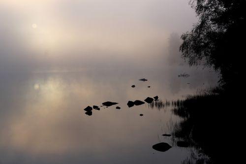 rytas,migla,ežeras,vanduo,atmosfera,fonas,ryto migla,ruduo