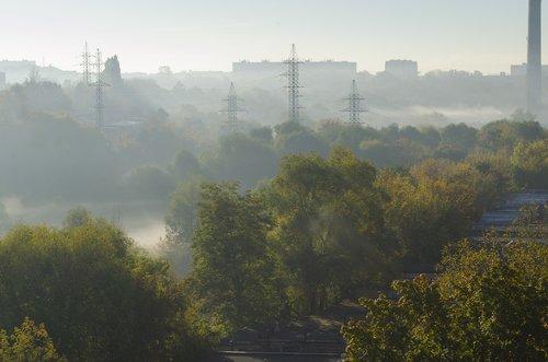 morning  dawn  fog