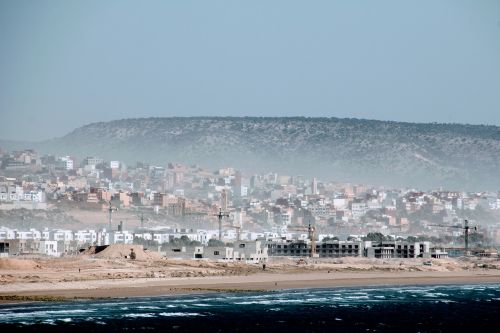 morocco beach building