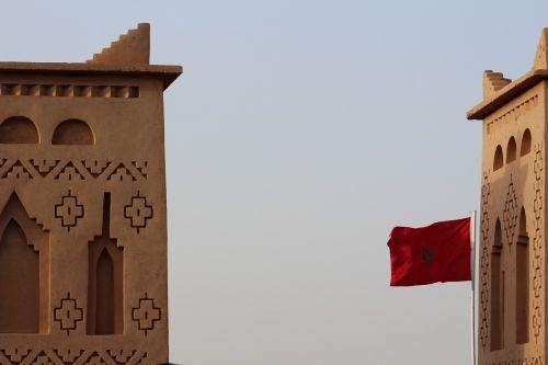 morocco flag wave