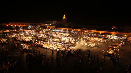 morocco marrakech night