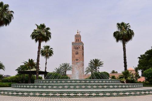 morocco  minaret  koutoubia
