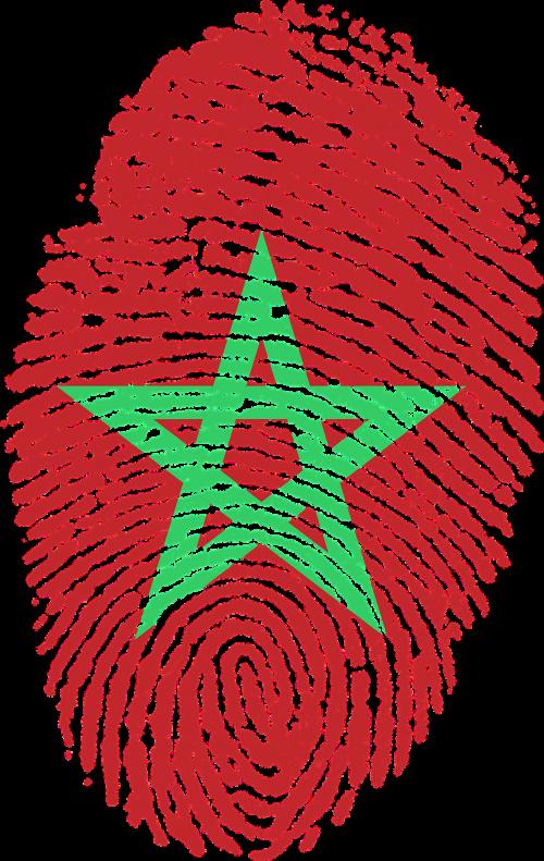 morocco flag fingerprint