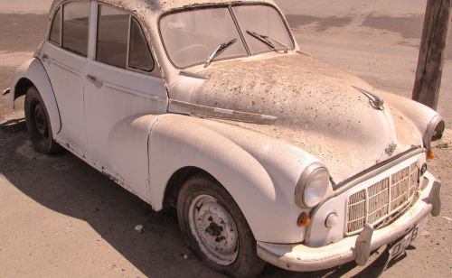 morris car old abandoned