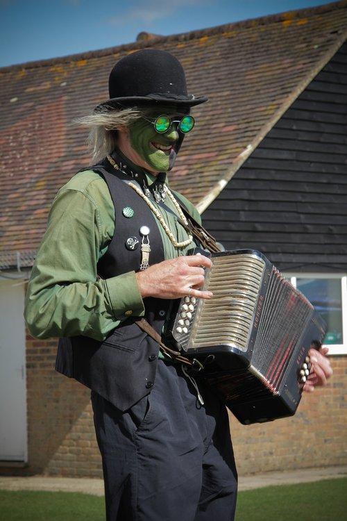 morris dancers  village  green men