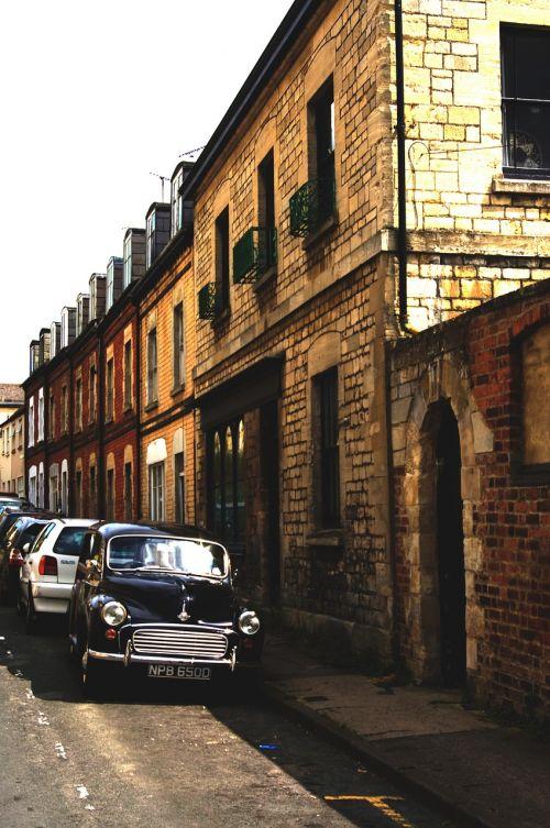 morris minor car street