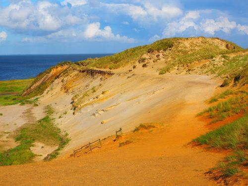 morsum-kliff cliff sand stone