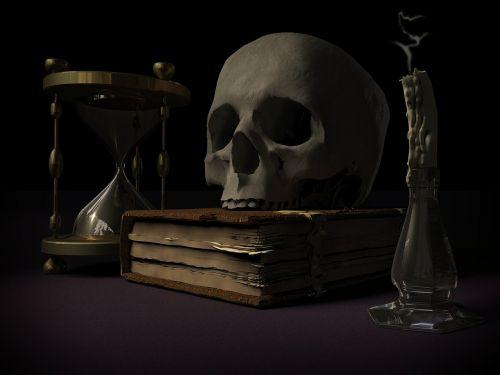 mortality skull and crossbones vanitas