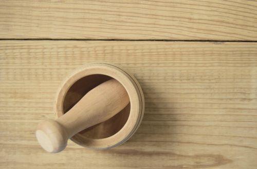 mortar wood kitchen utensil