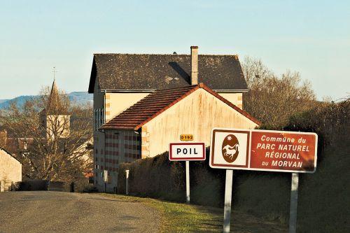 morvan, Burgundija, france, kaimo vietovė, mėlynas, namas, dangus, kaimas, žinomas, žinomas
