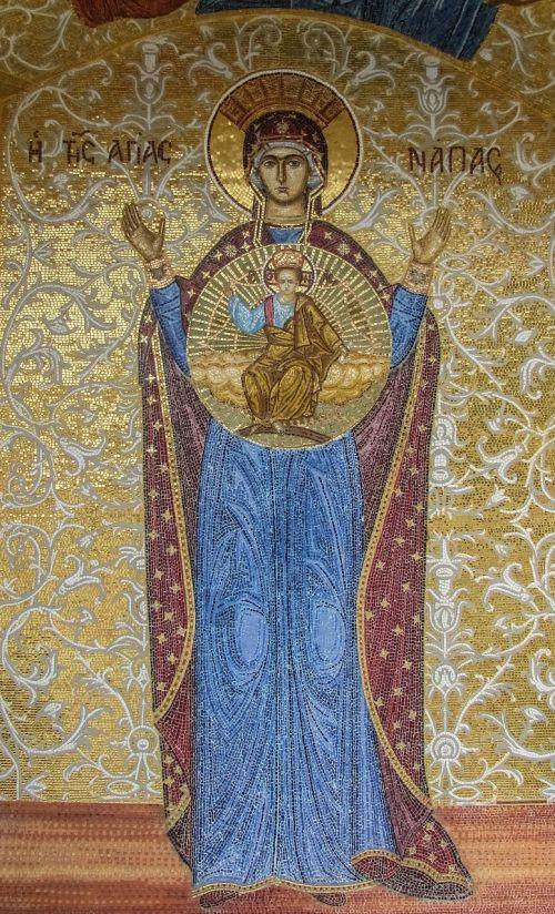 mosaic ayia napa virgin mary