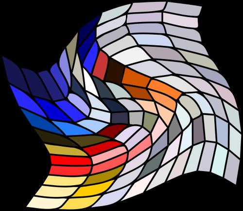 mosaic grid warped