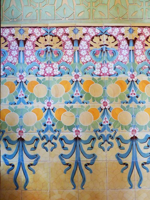 mosaic catalan modernism art nouveau