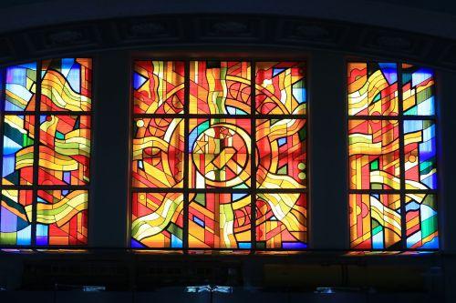 mosaic stained-glass window soviet