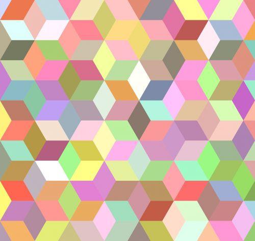 mosaic background cube