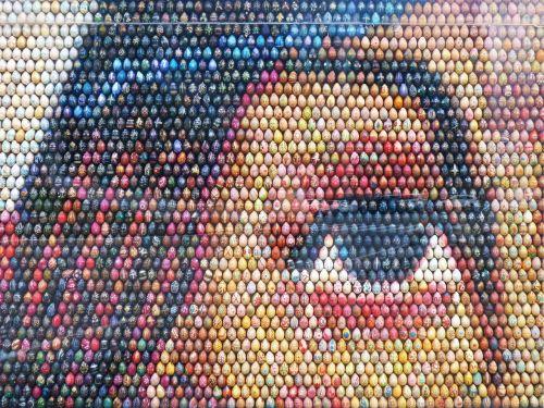 mosaic easter eggs work of art