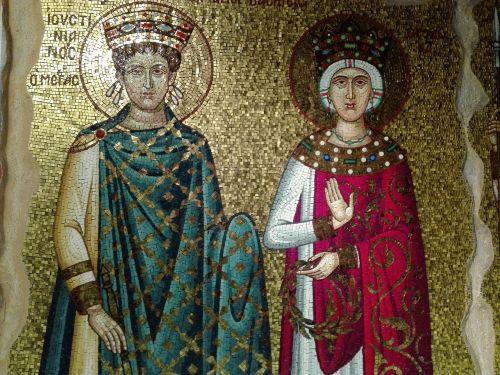 mosaic byzantine king