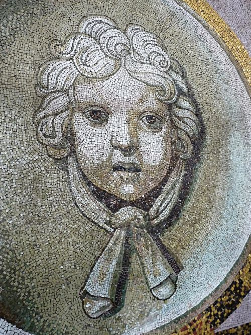 mosaic art head