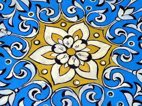 mosaic  uzbekistan  blue