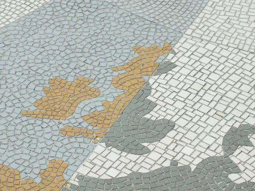 mosaic map tiled