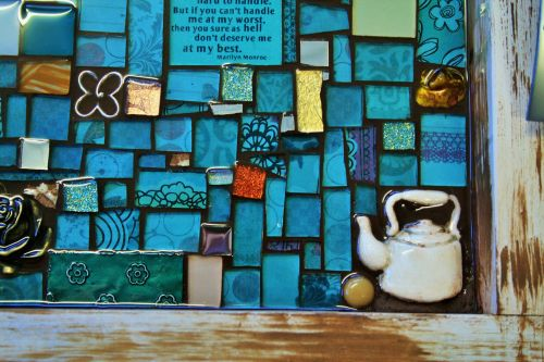 Mosaic Handwork In Blue
