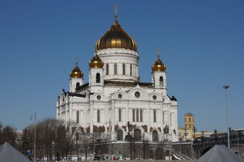christ the savior cathedral moscow morning