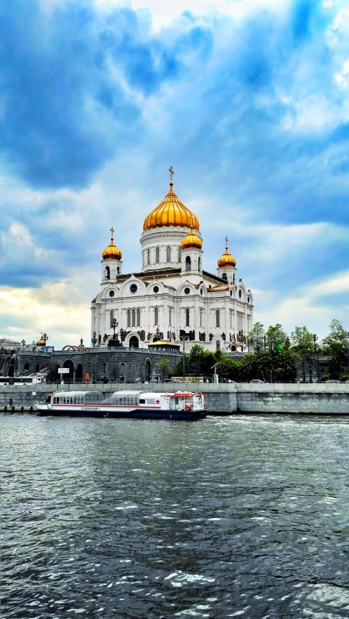 moscow christ the savior cathedral moscow river