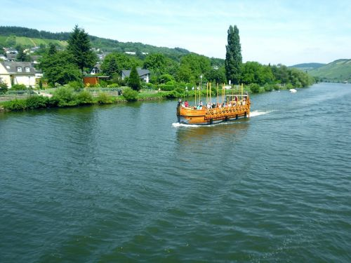 Mosel, vikingo laivas, šiauriniai vyrai, islandų salos, kopija, laivo važiavimas, upė, Sachsen, vanduo, upės kraštovaizdis, gamta, Irklavimas
