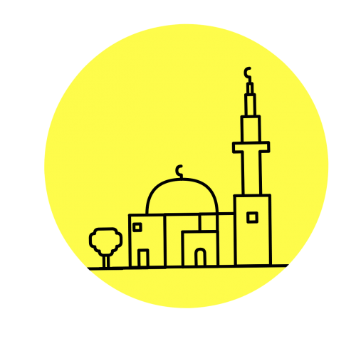 mosque cut out silhouette