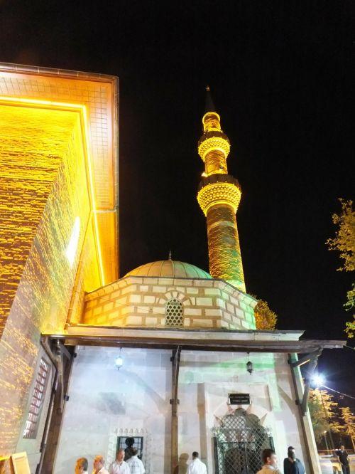 mosque minaret night