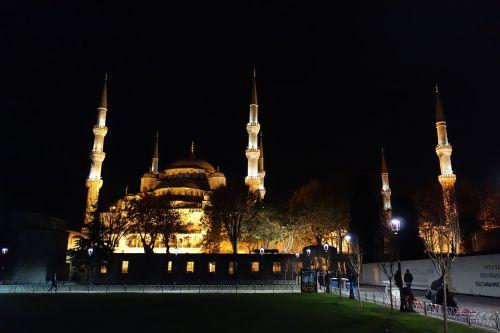 mosque night lights
