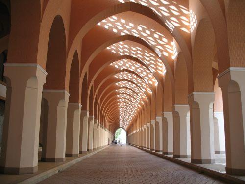 mosque arcade corridor