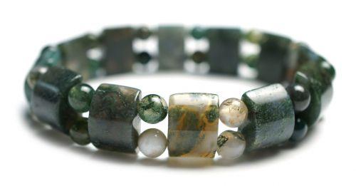moss agate gemstone bracelet bracelet stretch