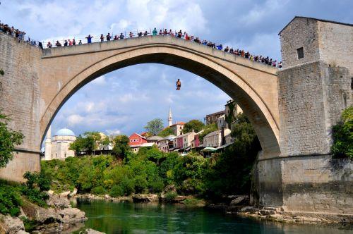 mostar old bridge bosnia and herzegovina