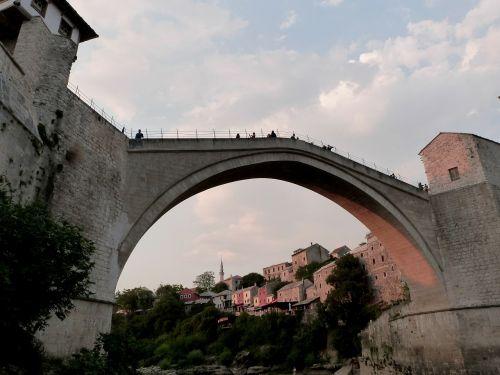 mostar old bridge old town