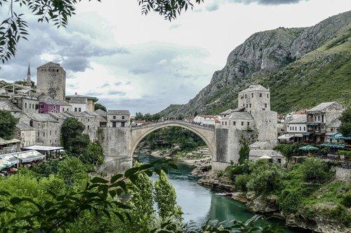 mostar bosnia herzegovina  architecture  travel