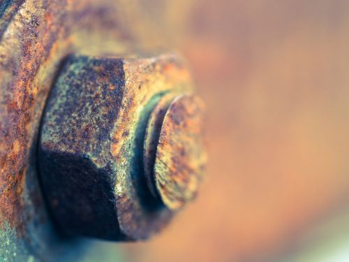 rusty nut rusty screw
