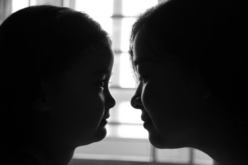 mother and daughter love mirror