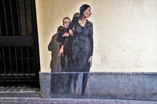 mother's day  stone wall  graffiti