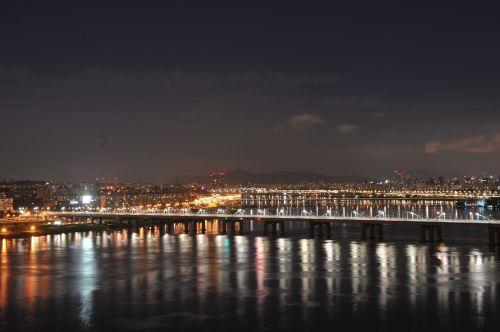 motion bridge night view han river