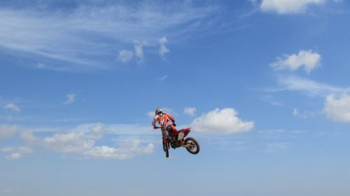 motocross motorcycle flying