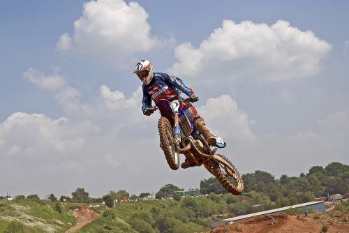 motocross rider motorbike