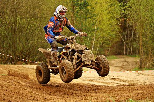 motokroso,quad,enduro,ATV,motociklas,motociklų sportas,kirsti,Quad race,visureigė transporto priemonė,lenktynės,motorsportas,motokroso važiavimas,lenktynės,purvas