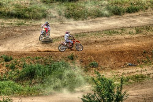 motocross race motorbikes