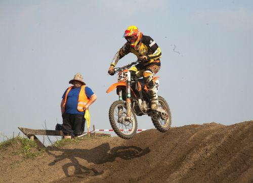 motocross motorcycle sand