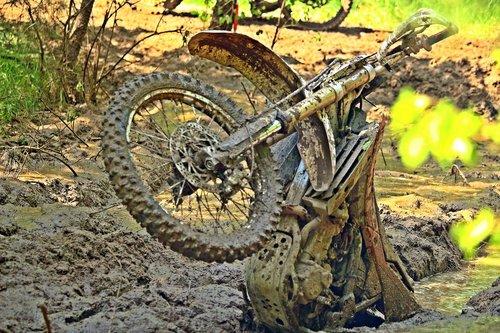 motocross  mud  bike