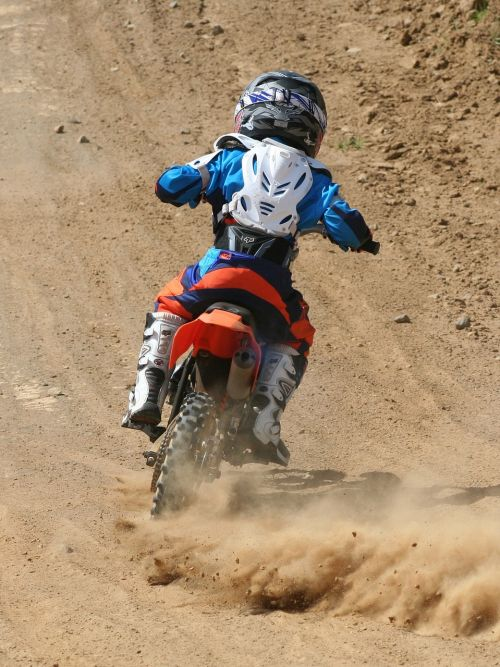 motocross dirt dust