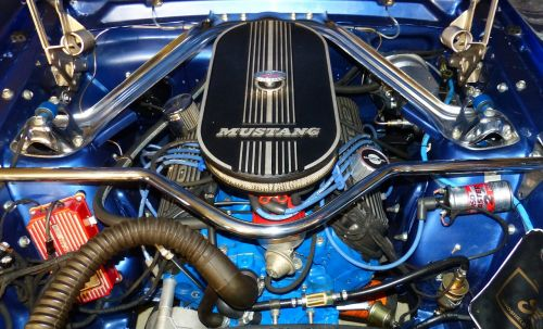 motor engine compartment mustang